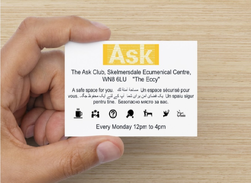 The ASK Club is a safe space for you.  Every Monday 12pm to 4pm