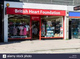 British Heart Foundation charity shop front photo