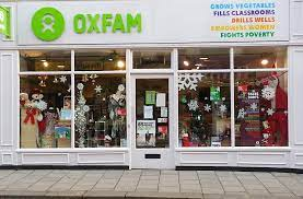 Oxfam charity shop front photo
