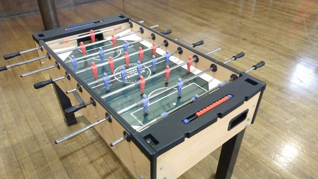Table football at The Ask Club
