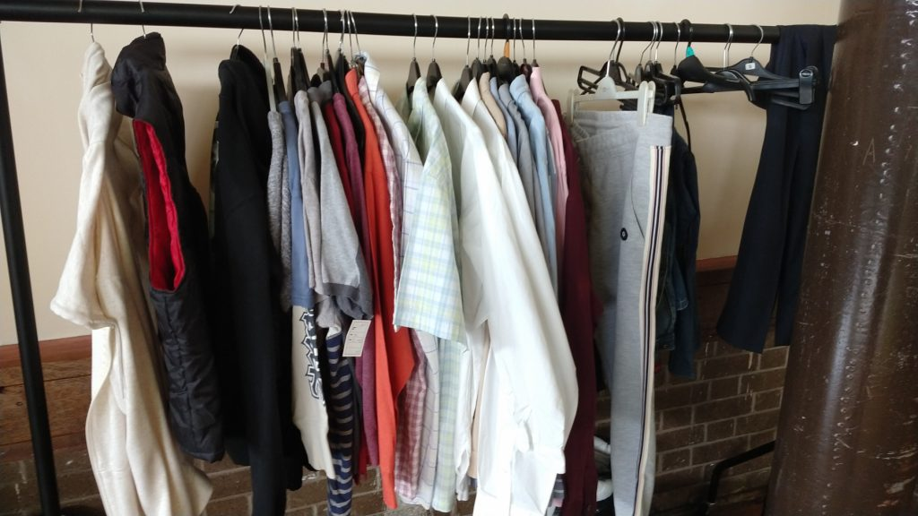 The clothes rack at The Ask Club