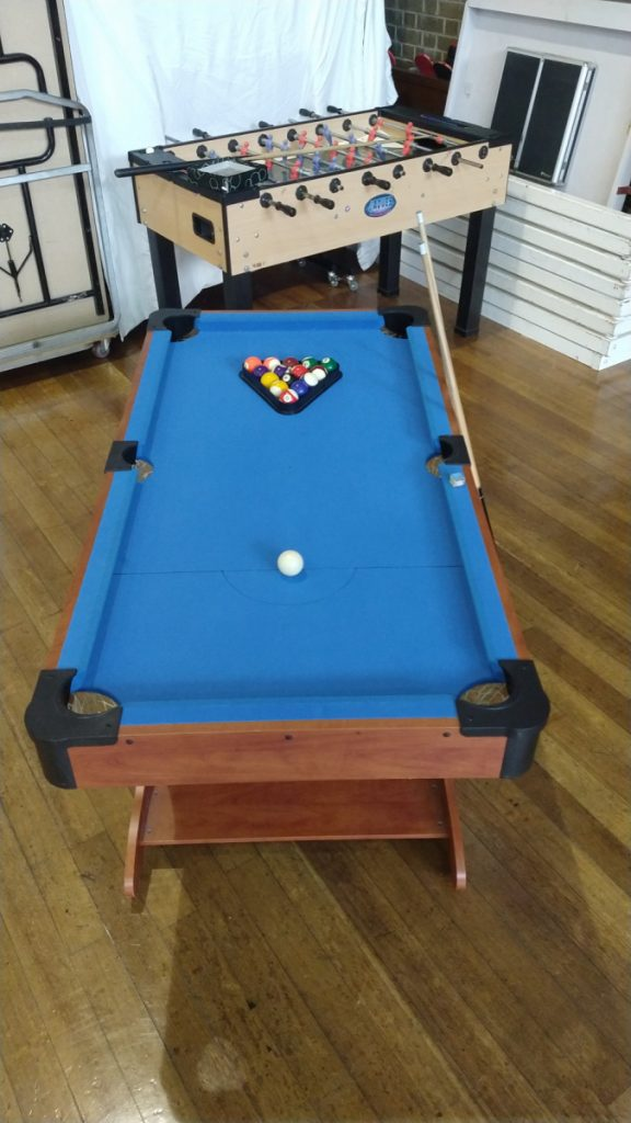 Pool table at The Ask Club