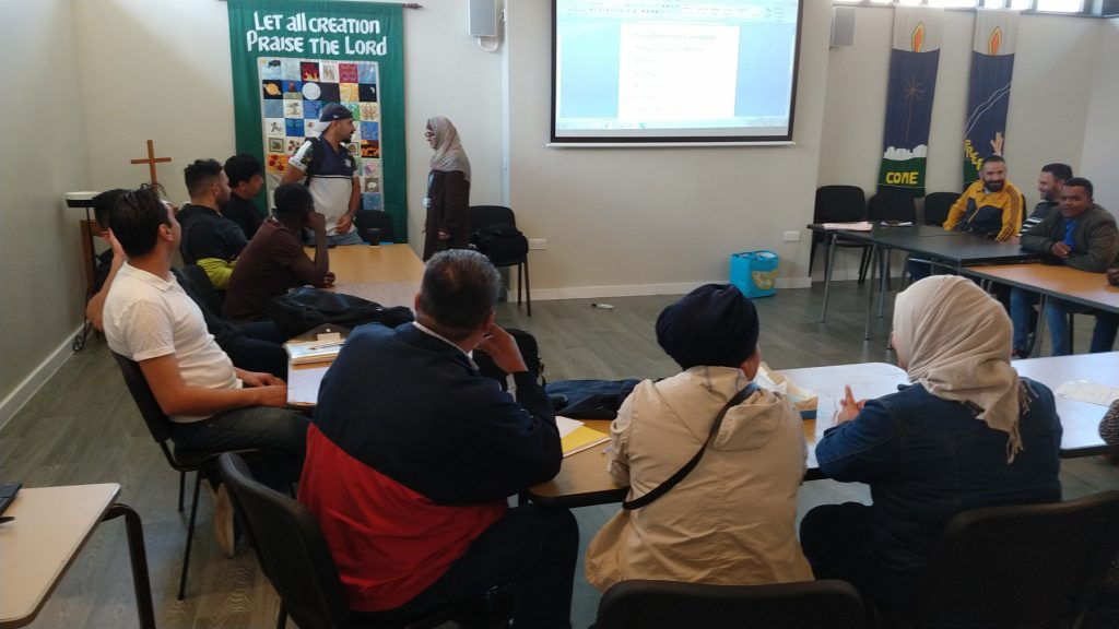 Refugees and Asylum Seekers learning English with the WEA at The Ask Club